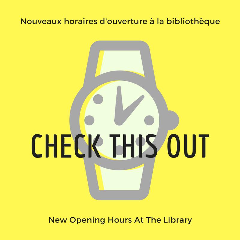 Nouveaux Horaires D'ouverture De La Bibliothèque
