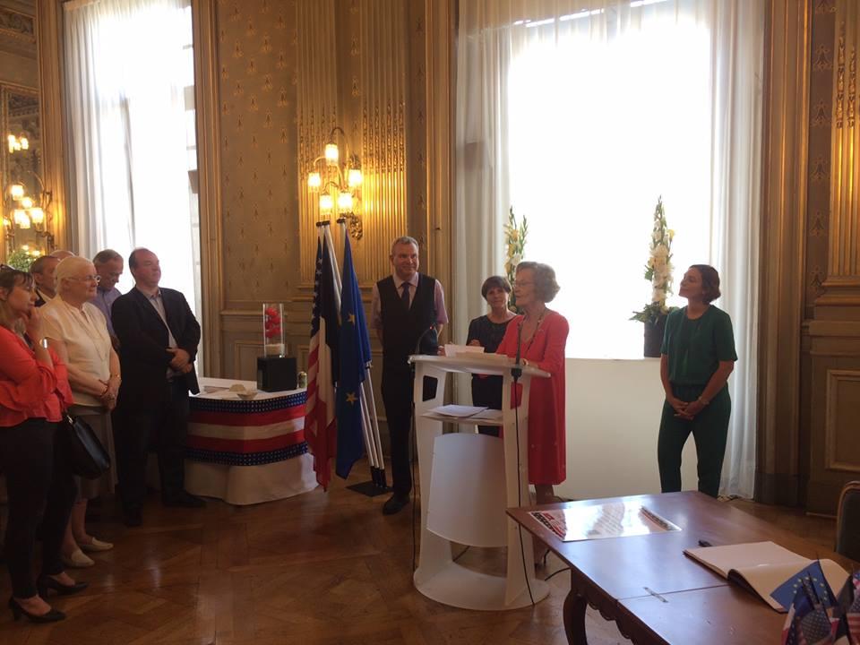 Discours à L'Hôtel De Ville De Mme.Liliane Kerjean, Présidente De L'Institut Franco-américain De Rennes