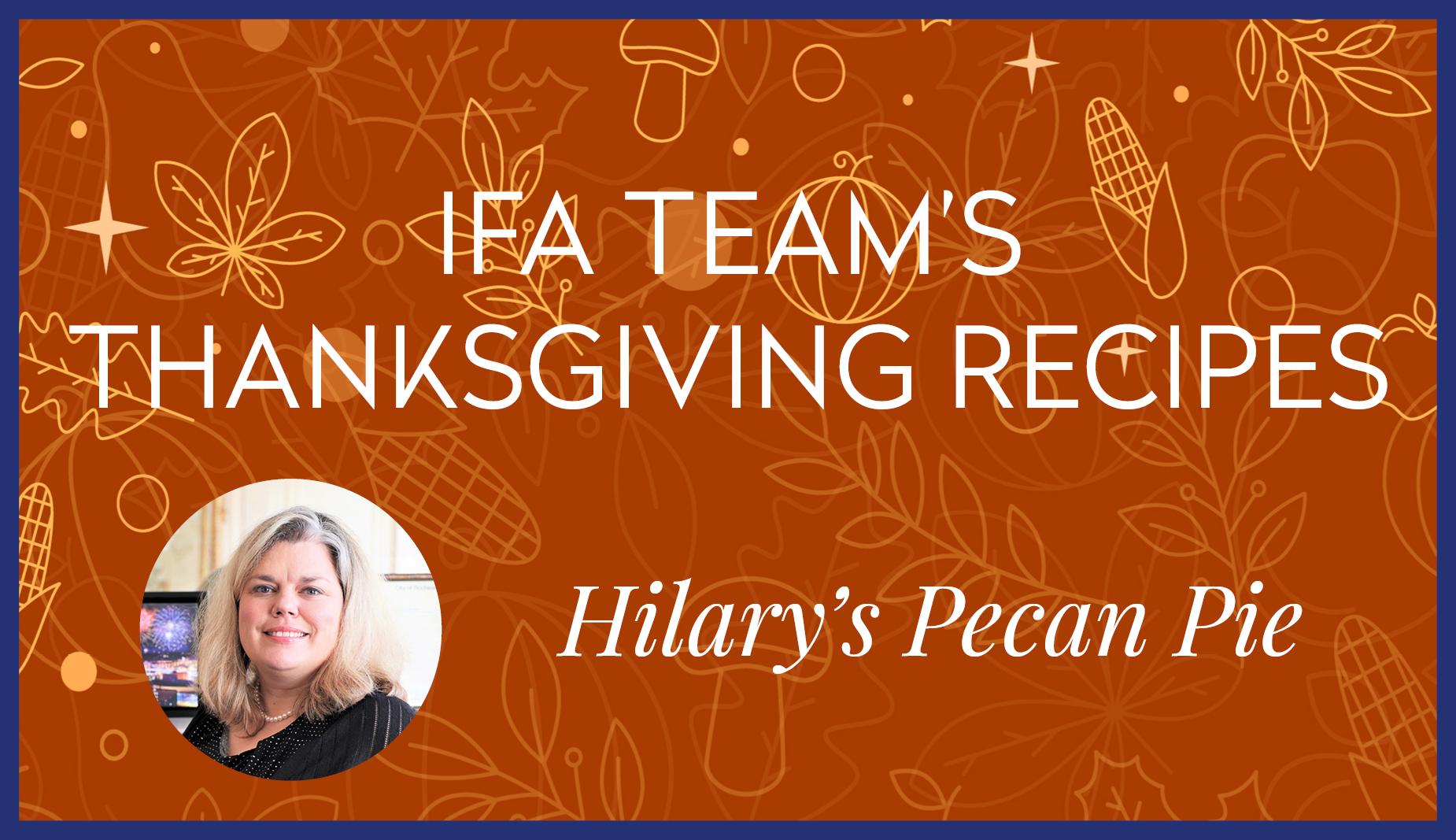 Hilary's Pecan Pie