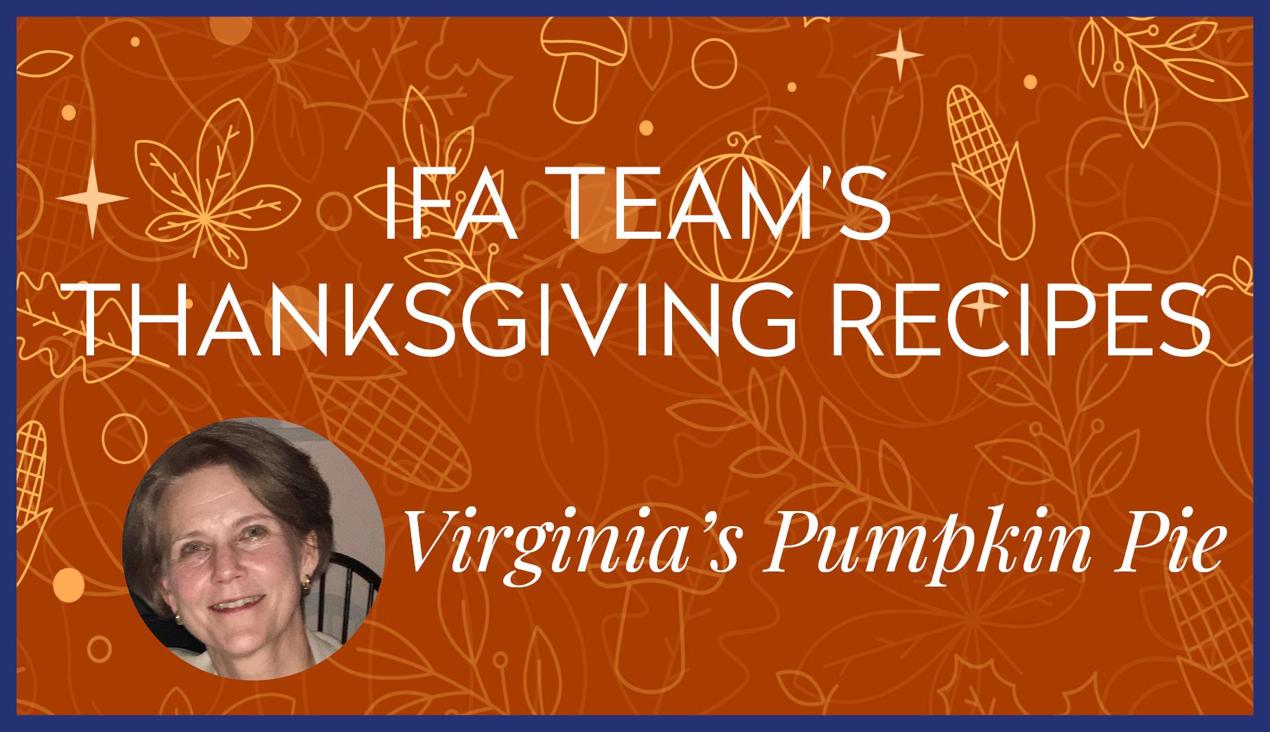 Virginia Pumpkin Pie Thanksgiving